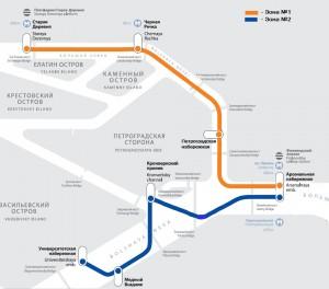 Аквабус 2015 - маршрут