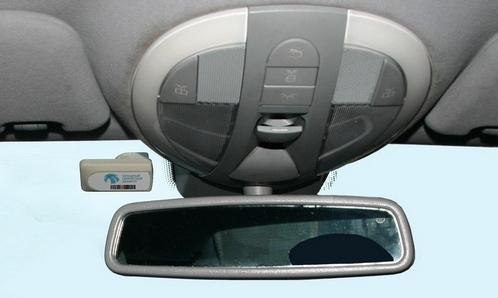 Транспондер в легковом автомобиле